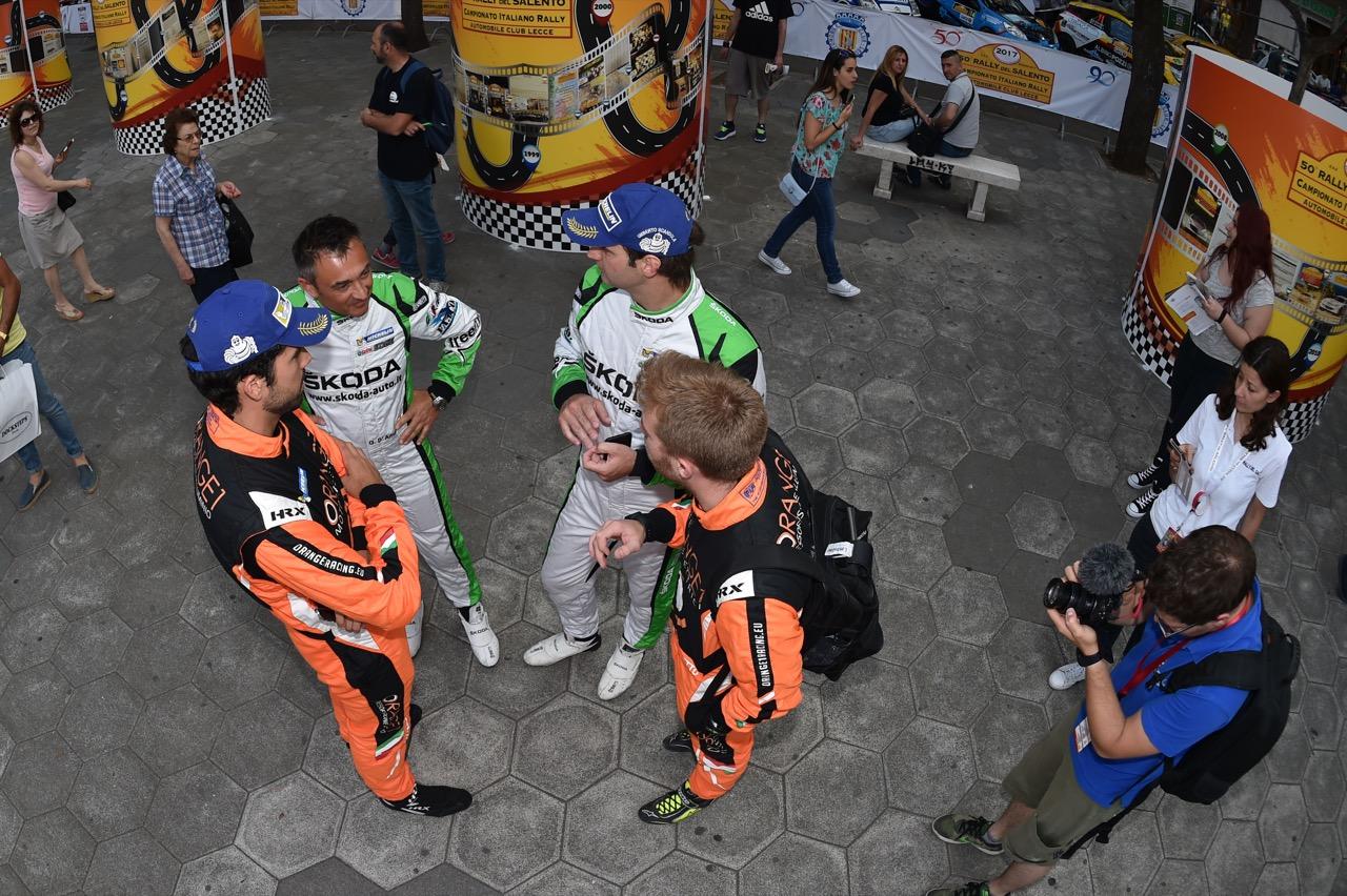 Umberto Scandola (ITA) - Guido D'amore (ITA) - Skoda Fabia R/R5, Car Racing, Simone Campedelli (ITA) - Pietro Elia Ometto (ITA) - Ford Fiesta R5, Orange 1 Racing