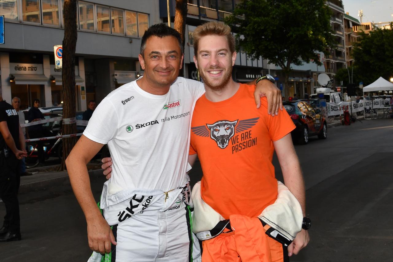 Guido D'amore (ITA) - Skoda Fabia R/R5, Car Racing, Pietro Elia Ometto (ITA) - Ford Fiesta R5, Orange 1 Racing
