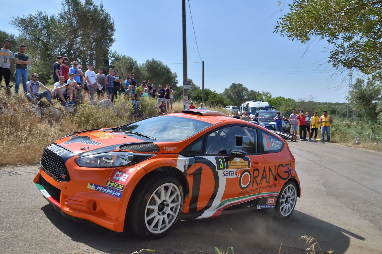 Simone Campedelli (ITA) - Pietro Elia Ometto (ITA) - Ford Fiesta R5, Orange 1 Racing
