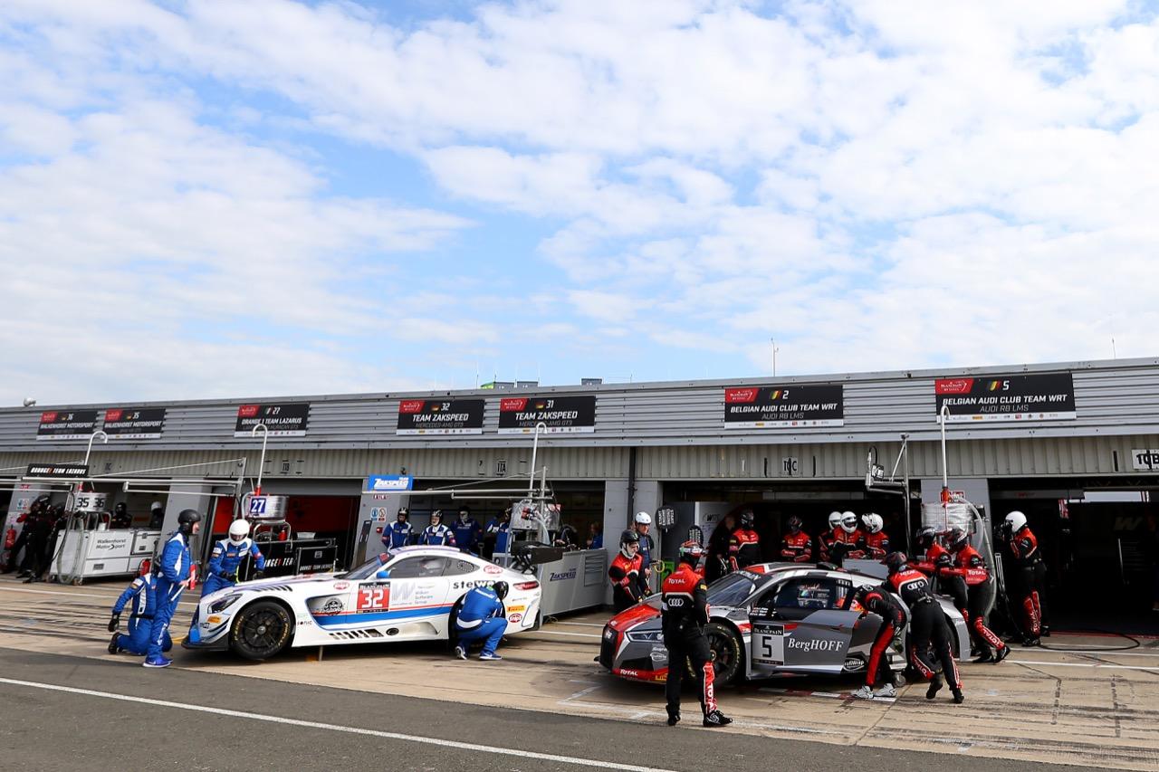Team Zakspeed - Immanuel Vinke(D), Vincent Vong(HNK), Beniamino Caccia(I) - Mercedes-AMG GT3  Belgian Audi Club Team WRT - Marcel Fässler(CH), Dries Vanthoor(BEL), Will Stevens(GBR) - Audi R8 LMS