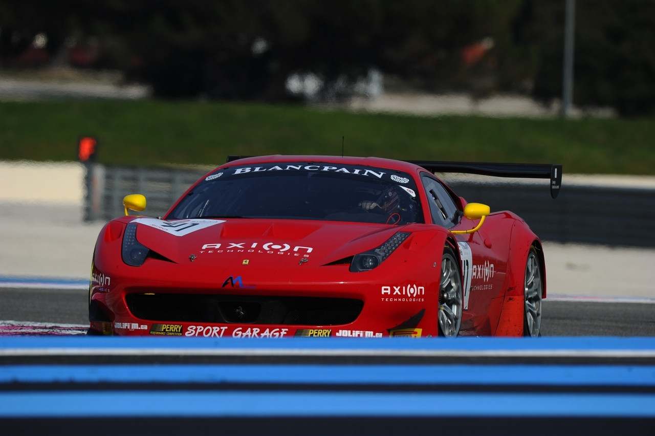 Blancpain endurance series test paul ricard france 11 for Garage jean charles nacci
