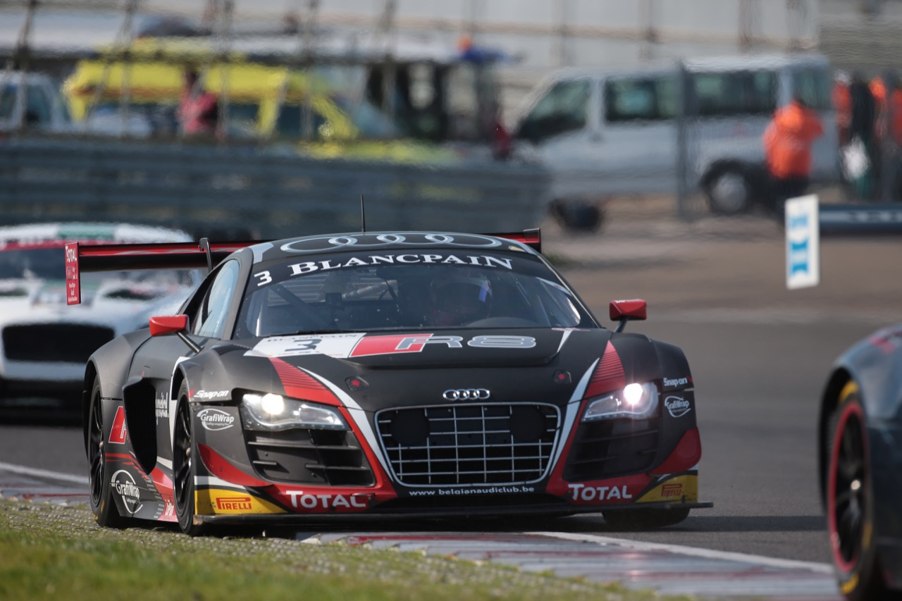 11.10.2015 -  Race 2, Stéphane Richelmi - Stéphane Ortelli, Audi R8LMS Ultra, Belgian Audi Club Team WRT