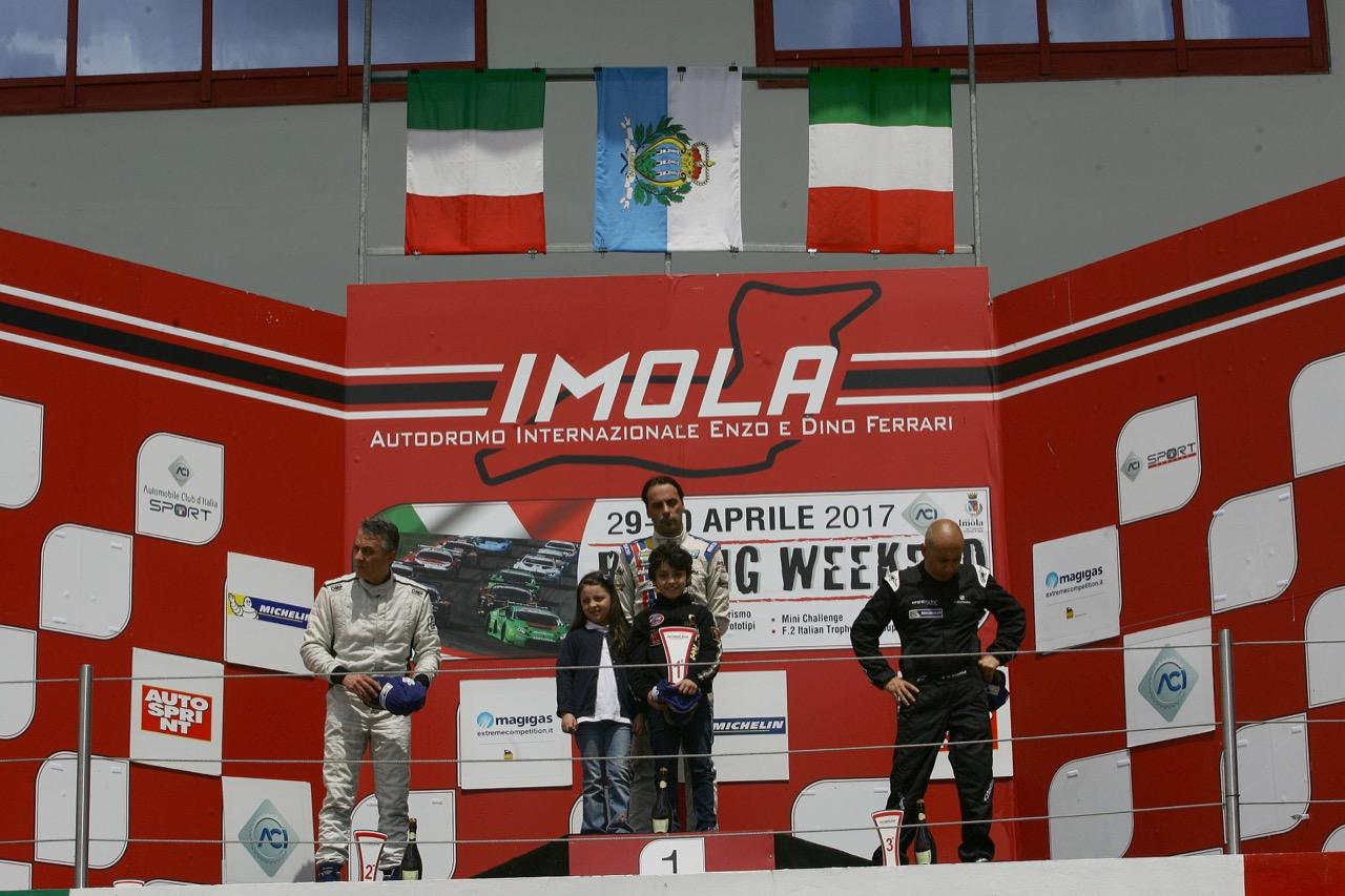 Podio gara 2, Ivan Bellarosa (Avelon Formula,Wolf GB 08 Evo-CNT #45), Marco Jacoboni ( Osella-PA21 Evo-CN2 #10), Walter Margelli (Nannini Racing, Norma-M20F-CNA2 #5)