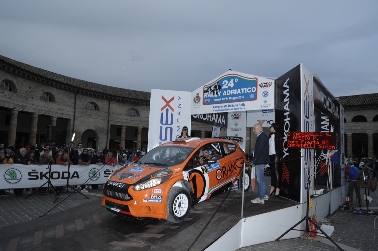 Simone Campedelli (ITA) - Pietro Elia Ometto (ITA) - Ford Fiesta R/R5, Orange 1 Racing