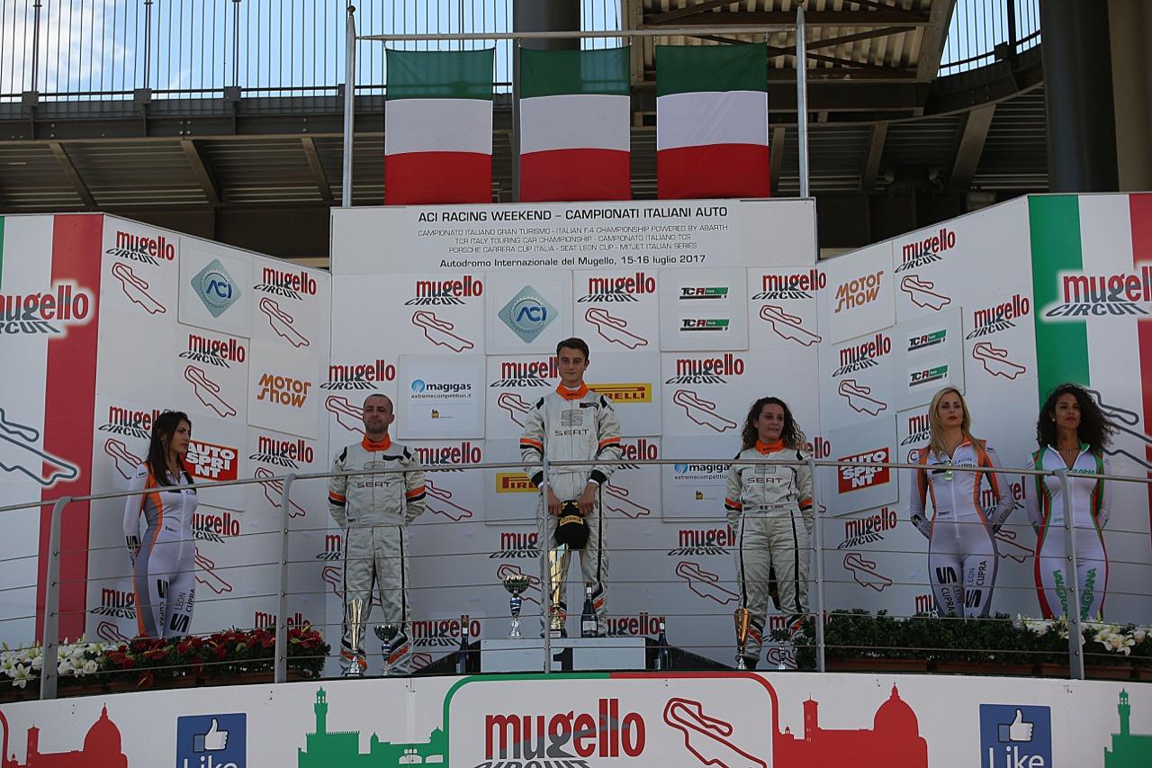 Podio gara 1, Giacomo Altoè (Seat Motor Sport Italia,Seat Leon Cupra ST-TCS2.0 #21)