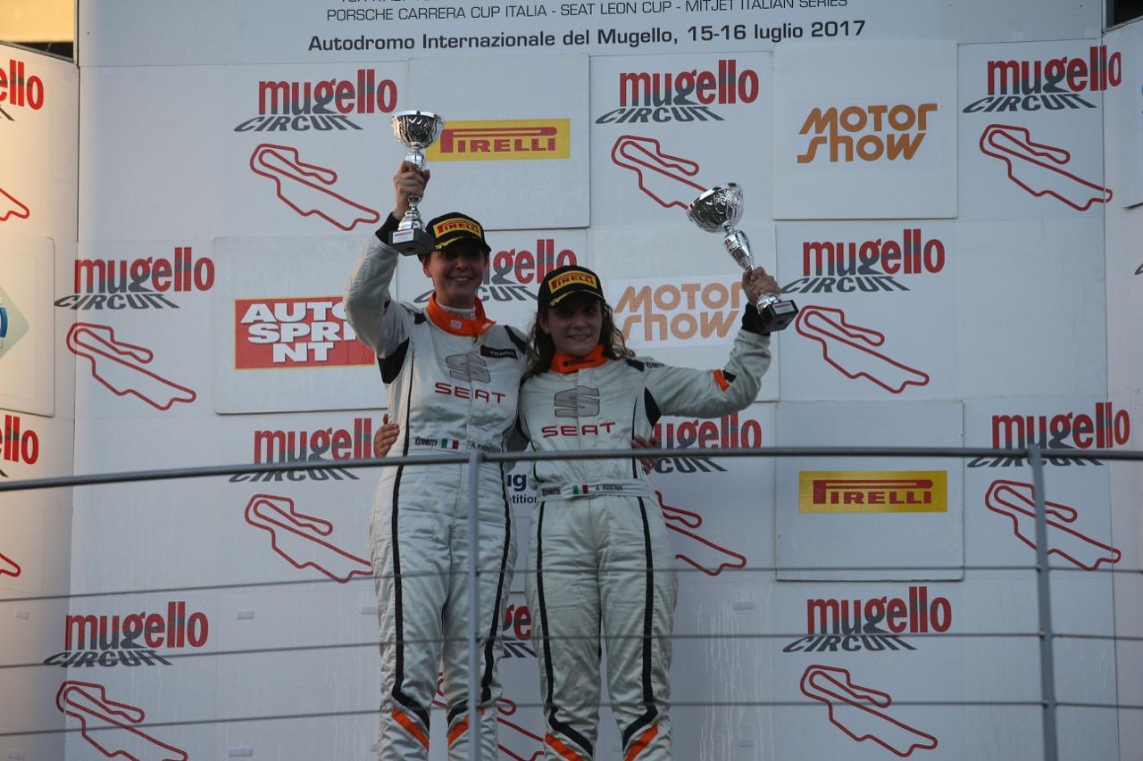 Gara 2, Alessandra Brena (Seat Motor Sport Italia,Seat Leon Cupra ST-TCS2.0 #35), Alessandra Torresani (Seat Motor Sport Italia,Seat Leon Cupra ST-TCS2.0 #6)