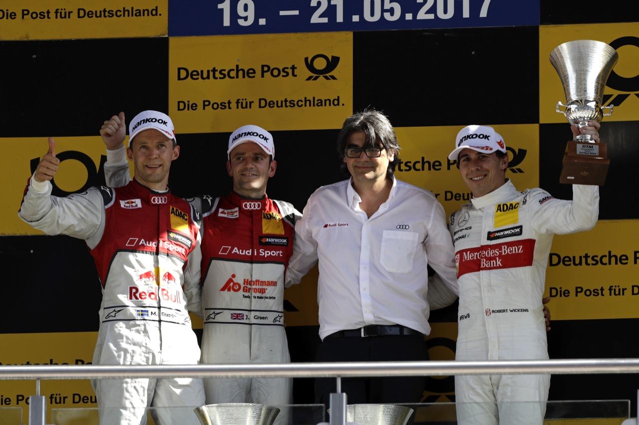Mattias Ekstrom (SWE), Jamie Green (GBR), Francesco Nenci, Robert Wickens (CAN)  21.05.2017
