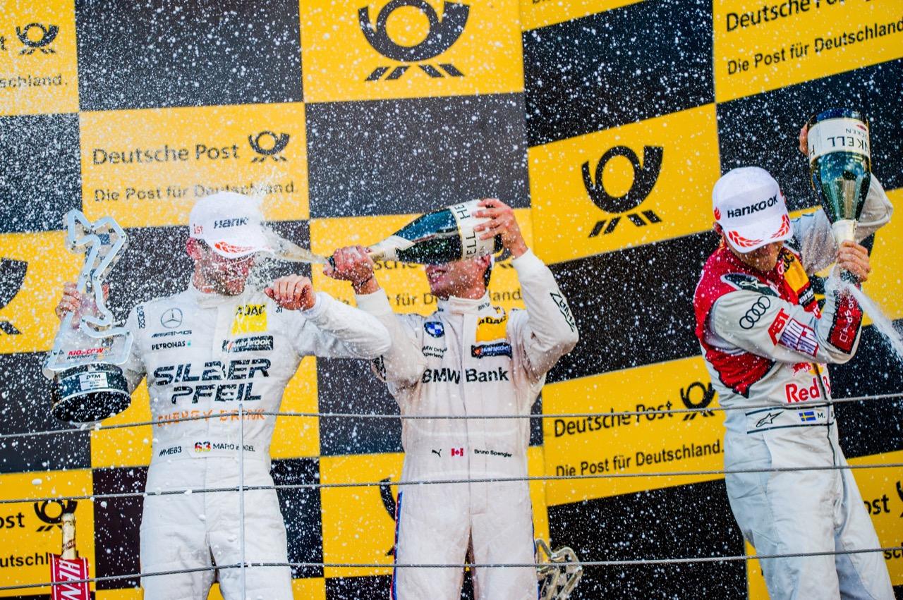 Maro Engel (GER) Mercedes-AMG Team HWA, Mercedes-AMG C63 DTM Bruno Spengler (CAN) BMW Team RBM, BMW M4 DTM Mattias Ekström (SWE) Audi Sport Team Abt Sportsline, Audi A5 DTM 23.07.2017