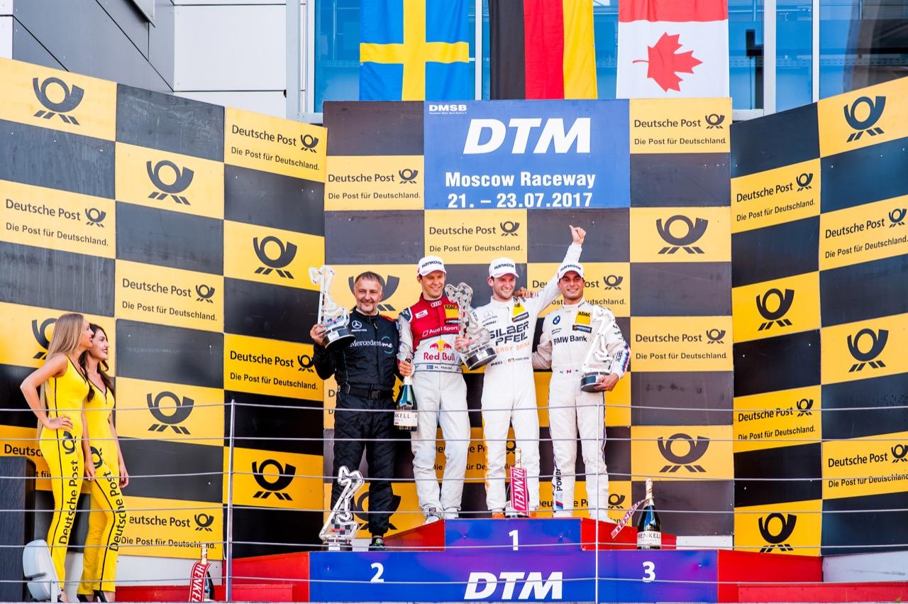Mattias Ekström (SWE) Audi Sport Team Abt Sportsline, Audi A5 DTM Maro Engel (GER) Mercedes-AMG Team HWA, Mercedes-AMG C63 DTM Bruno Spengler (CAN) BMW Team RBM, BMW M4 DTM 23.07.2017
