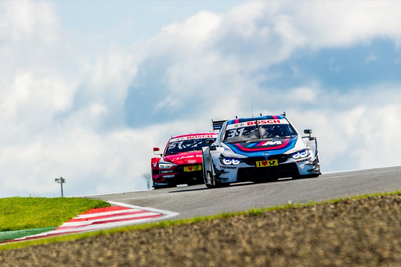 Tom Blomqvist (GBR) BMW Team RBM, BMW M4 DTM Nico Müller (SUI) Audi Sport Team Abt Sportsline, Audi RS 5 DTM 23.07.2017