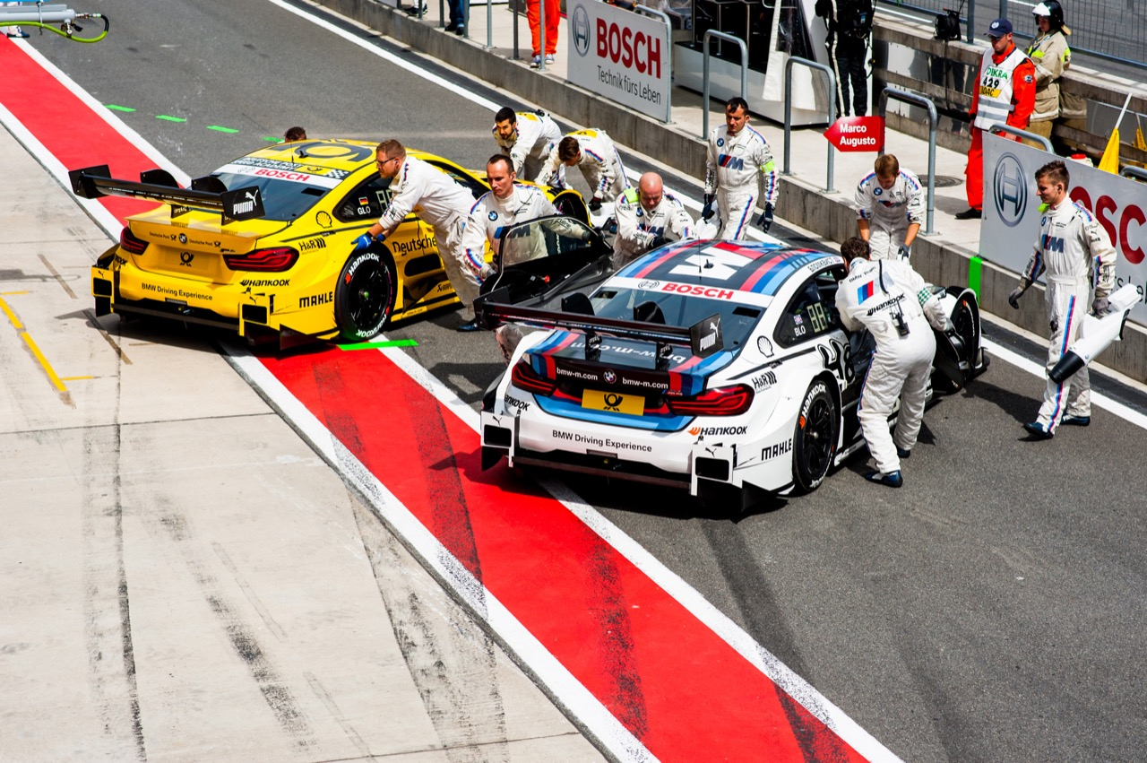 Timo Glock (GER) BMW Team RMG, BMW M4 DTM Tom Blomqvist (GBR) BMW Team RBM, BMW M4 DTM 22.07.2017