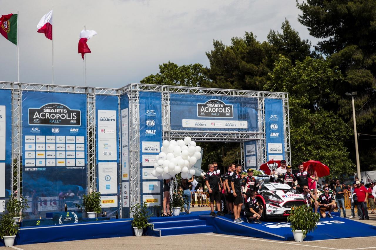 04.06.2017 - KAJETANOWICZ Kajetan (POL) - BARAN Jaroslaw (POL) FORD Fiesta R5, LOTOS RALLY TEAM race winner