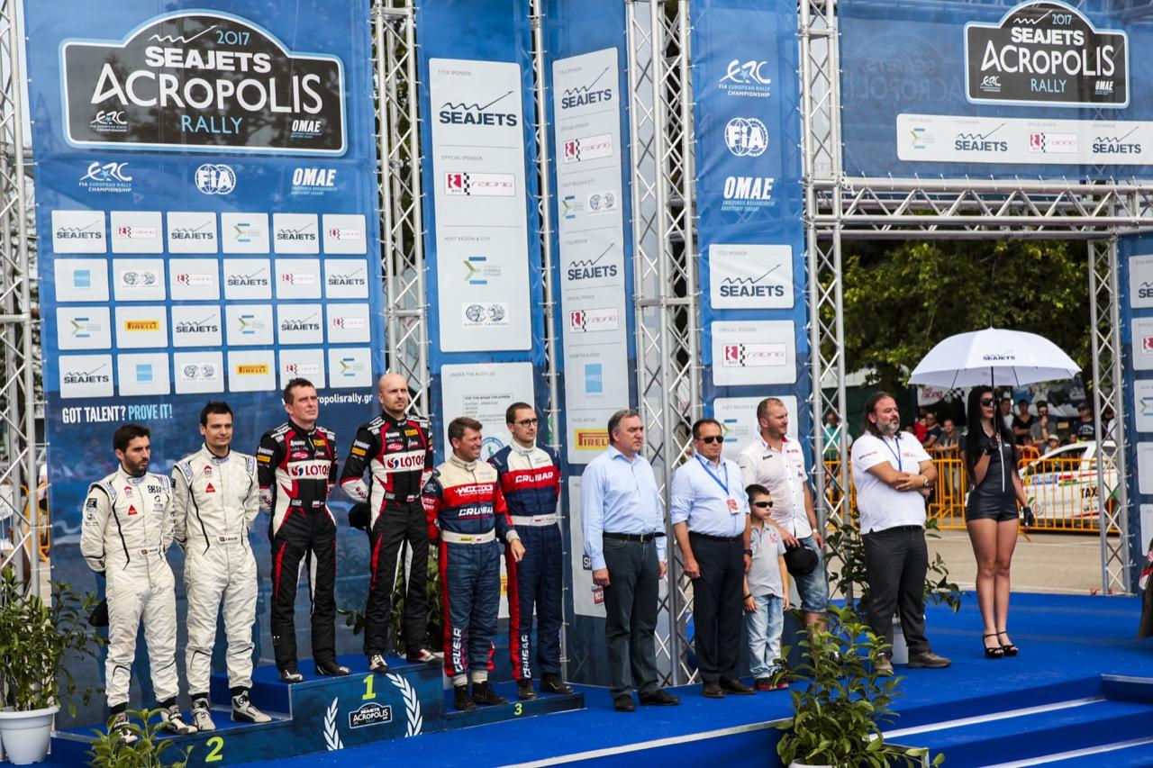 04.06.2017 - 1st place KAJETANOWICZ Kajetan (POL) - BARAN Jaroslaw (POL) FORD Fiesta R5, LOTOS RALLY TEAM, 2nd place MAGALHAES Bruno (POR) - MAGALHAES Hugo (POR) SKODA Fabia R5 and 3rd place GRYAZIN Nikolay (LVA) - FEDOROV Yaroslav (RUS) SKODA Fabia R5, SPORTS RACING TECHNOLOGIES
