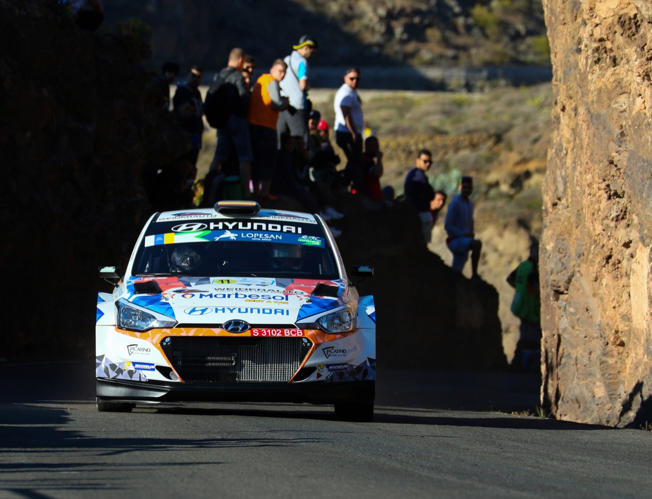 04.05.2017 - Shakedown, Alejandro Surhayen Pernía Calderón (ESP) - Carlos Del Barrio Corral (ESP) Hyundai i20 R5, RMC Motorsport