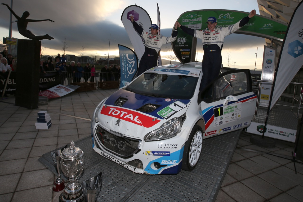 Craig Breen (IRL) - Scott Martin (GBR), Peugeot 208 T16, race winner