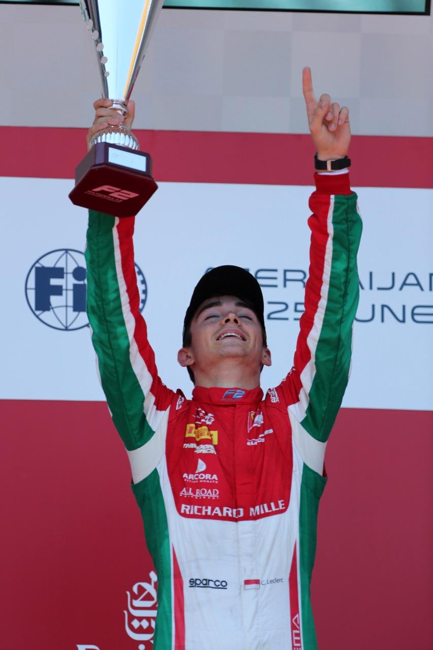 24.06.2017 - Race 1, Charles Leclerc (MON) PREMA Racing race winner