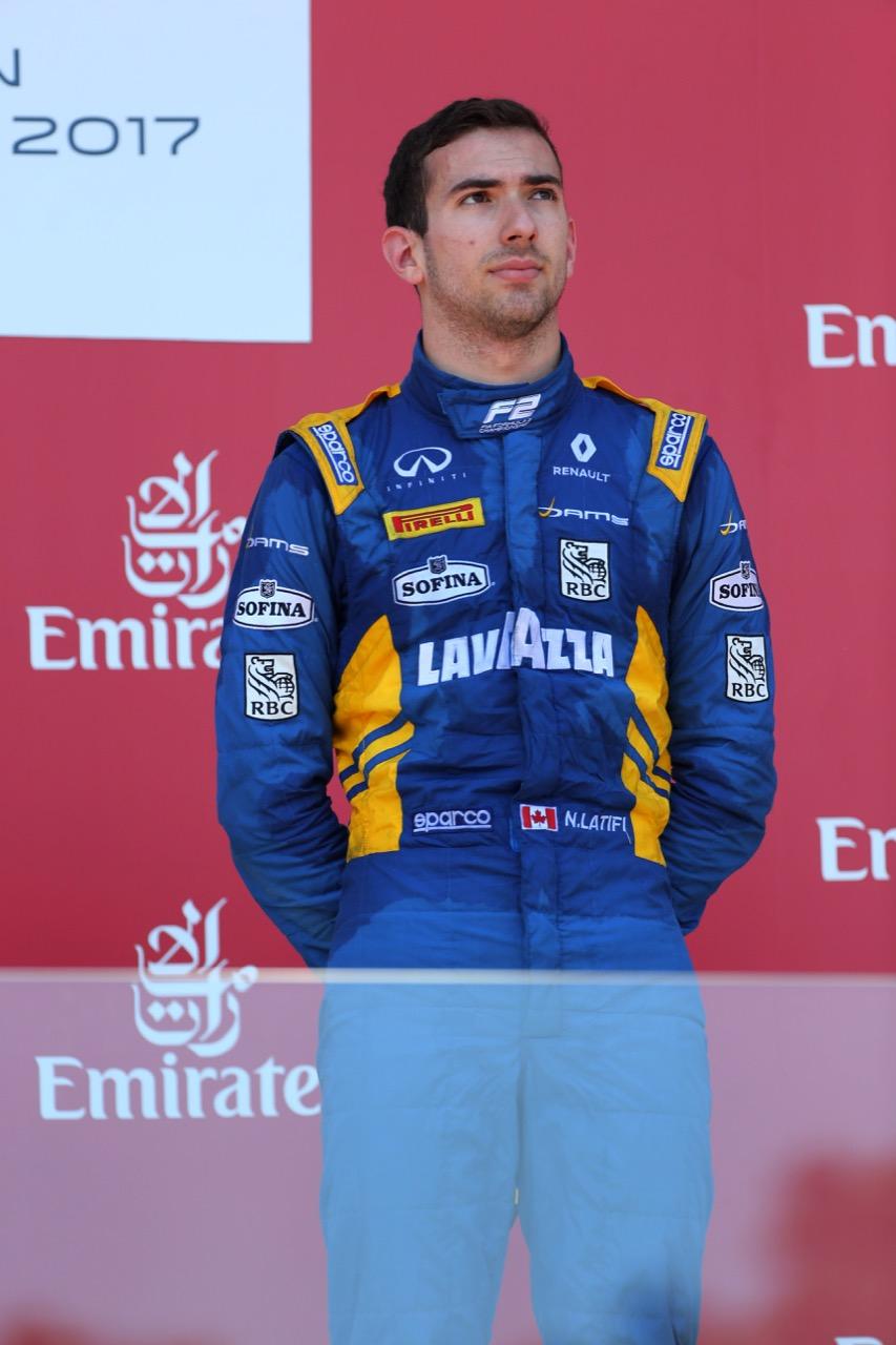 25.06.2017 - Race 2, 3rd place Nicolas Latifi (CAN) Dams