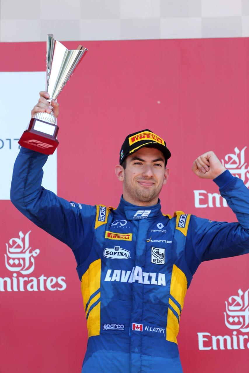 24.06.2017 - Race 1, 3rd place Nicolas Latifi (CAN) Dams
