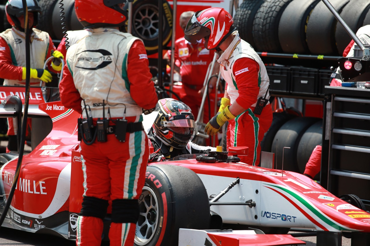 26.05.2017 - Race 1, Charles Leclerc (MON) PREMA Racing retires from the race