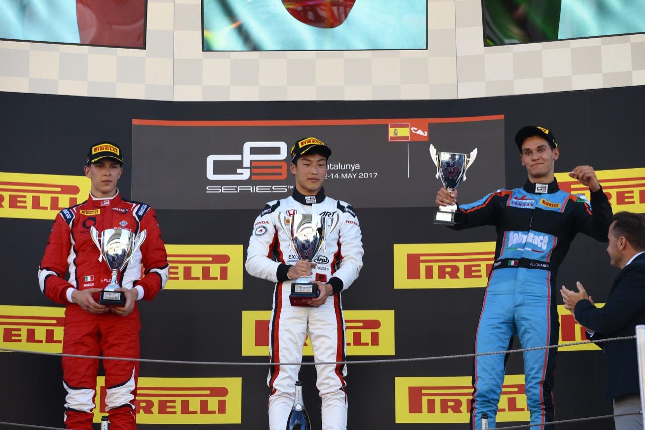 13.05.2017 - Race 1, 1st place Nirei Fukuzumi (JAP) ART Grand Prix, 2nd place Leonardo Pulcini (ITA) Arden International and 3rd place Alessio Lorandi (ITA) Jenzer Motorsport