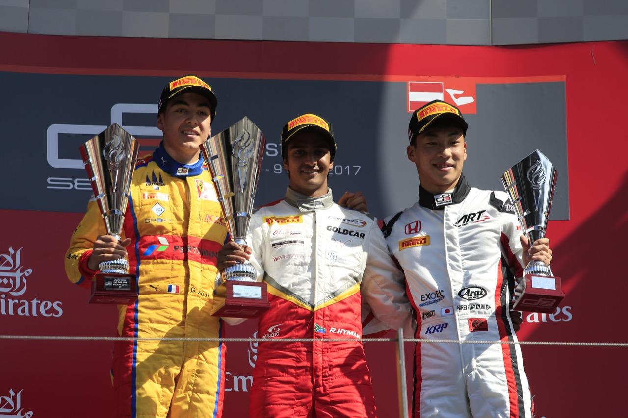 Race 2, Start From L to R: Giuliano Alesi (FRA) Trident, Raoul Hyman (RSA) Campos Racing, Nirei Fukuzumi (JAP) ART Grand Prix
