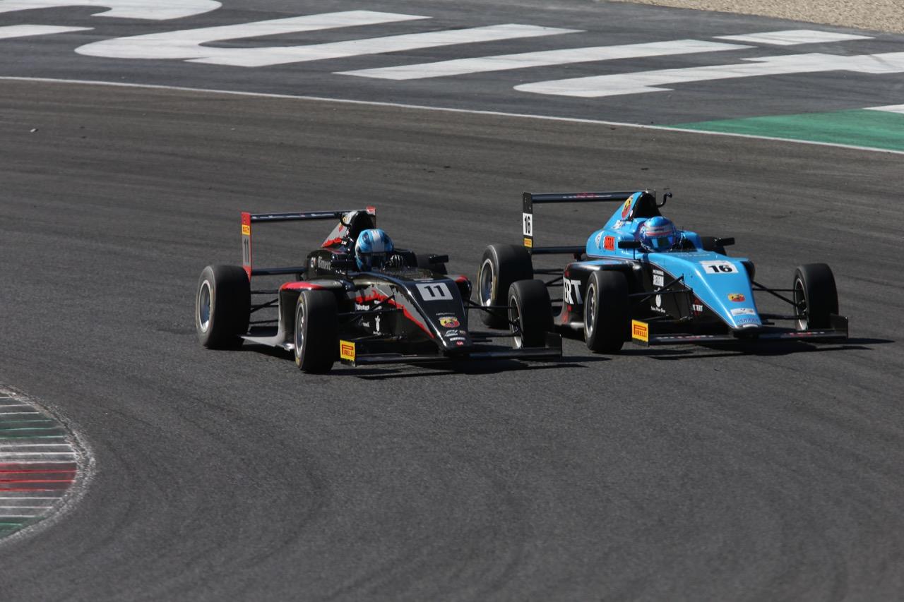 Leonardo Lorandi (Baithech Srl ,Tatuus F.4 T014 Abarth #11), Job Van Uitert  (Jenzer Motorsport,Tatuus F.4 T014 Abarth #16)