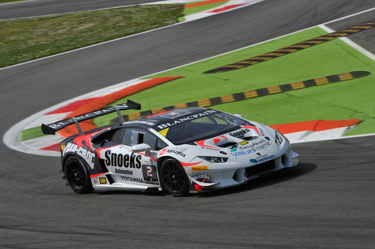 Mikko Eskelinen (FIN), Kelvin Snoeks (NDL), Lamborghini Huracán LP 620-2 Super Trofeo, Leipert Motorsport