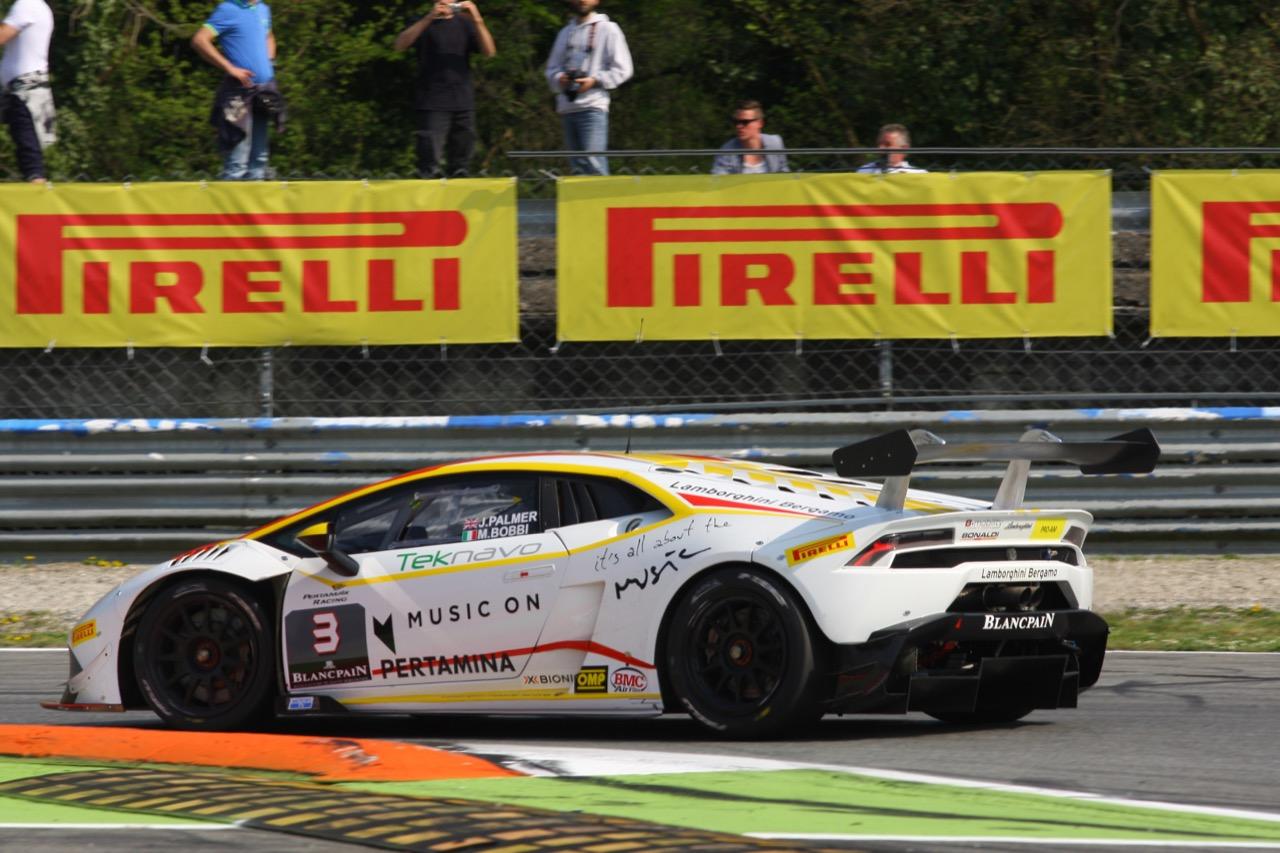 Jay Palmer (GBR), Matteo Bobbi (ITA), Lamborghini Huracán LP 620-2 Super Trofeo, Team Bonaldi Motorsport