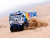 Firdaus Kabirov (driver), Aydar Belyaev (co-driver) and Andrey Mokeev (co-driver)  n action during the 9th stage of Dakar Rally in Copiapo, Chile on january 11th, 2011