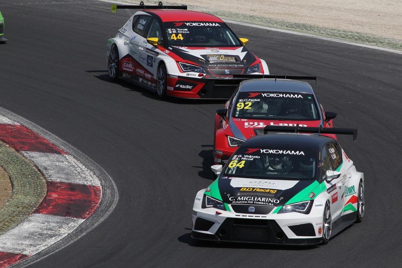 Gabriele Volpato (ITA) Lorenzo Nicoli (ITA) SEAT Leon Racer Cup,BD Racing