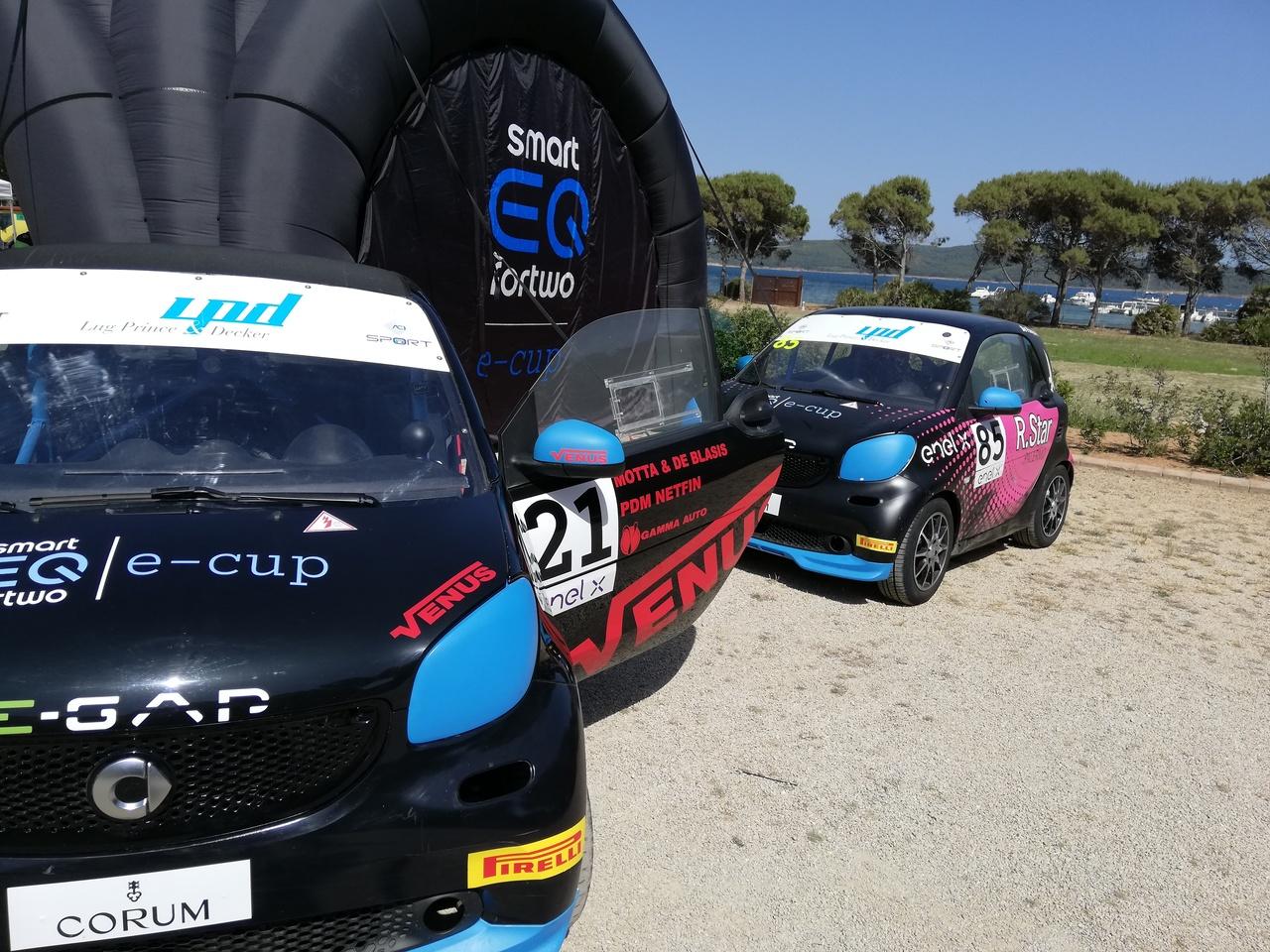 smart EQ fortwo e-cup - Prova Rally Italia Sardegna