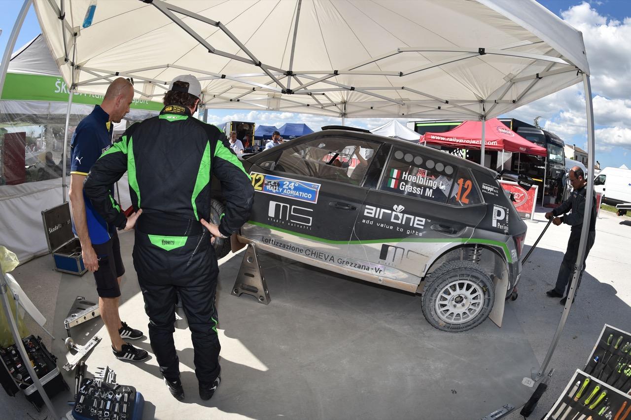 Luca Hoelbling (ITA) - Skoda Fabia R/R5, Car Racing
