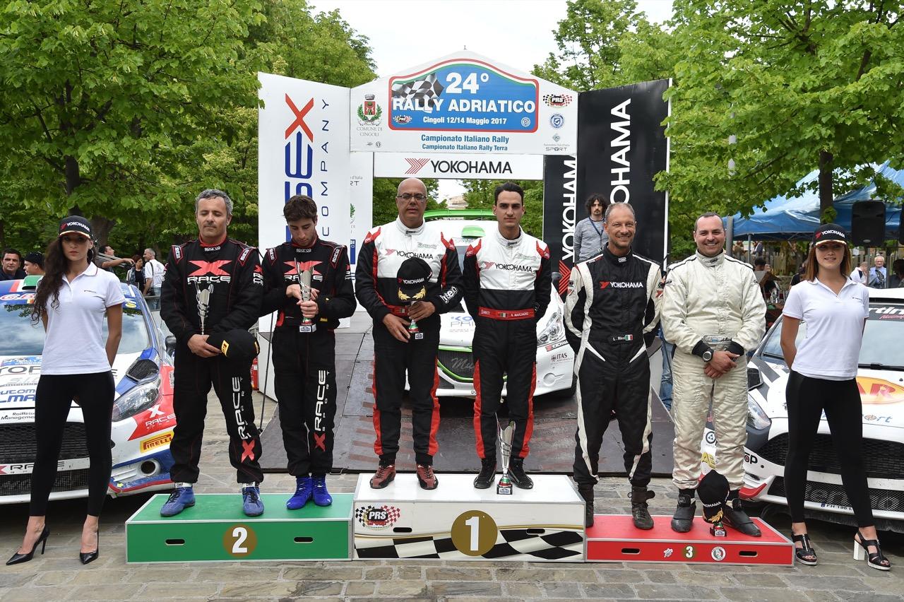 Podio: Nicolo' Marchioro  (ITA) - Marco Marchetti (ITA) - Peugeot 208 R/R5, Power Car Team 208, Andrea Dalmazzini (ITA) - Andrea Albertini (ITA) - Ford Fiesta R/R5, X Race Sport, Luigi Ricci (ITA) - Alessandro Biordi (RSM) - Ford Fiesta R/R5, Movisport