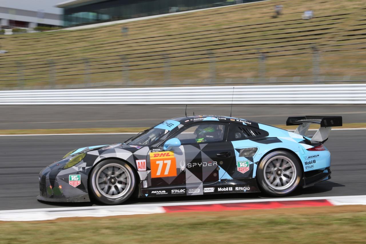 Patrick Dempsey (USA) / Patrick Long (USA) / Marco Seefried (GER) #77 Dempsey Racing Proton Porsche 911 RSR. 09.10.2015.