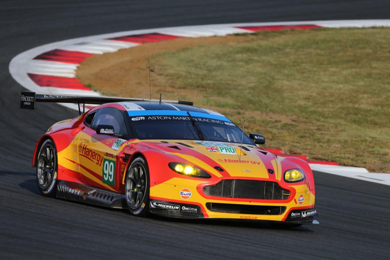 Alex MacDowall (GBR) / Stefan Mucke (GER) / Fernando Rees (BRA) #99 Aston Martin Vantage V8. 09.10.2015.