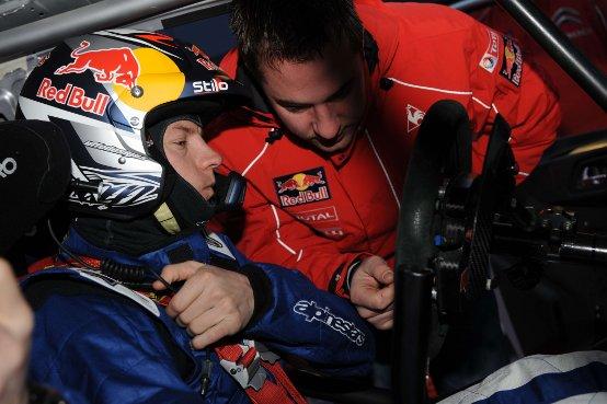 Primi test per Kimi Räikkönen al volante della CITROËN C4 WRC