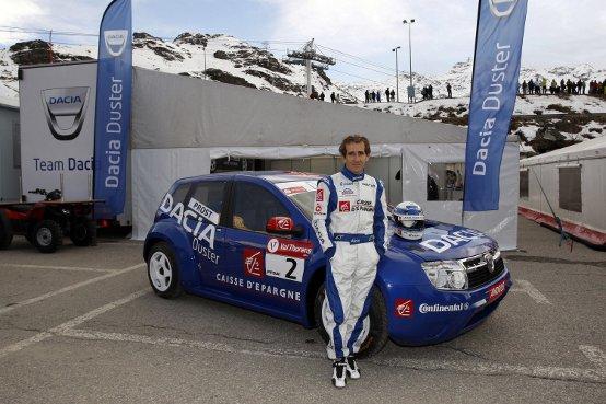 Alain Prost al volante di Dacia Duster conquista il secondo posto al Trofeo Andros
