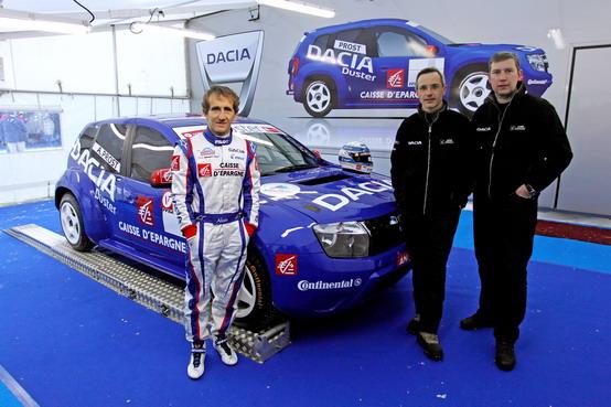 Alain Prost e Dacia Duster alla conquista del Trofeo Andros 2011