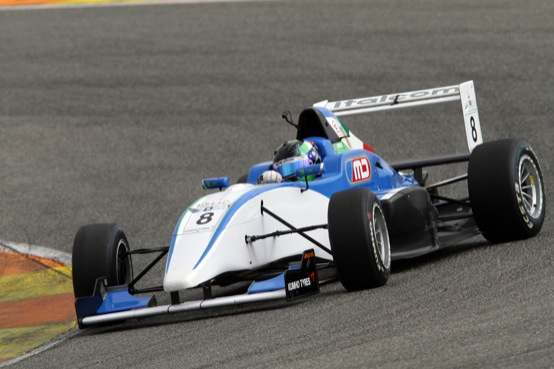 Formula Abarth Europa: Lorenzo Camplese centra uno splendido terzo posto a Valencia