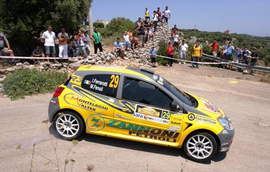 Rally del Salento, Ferrarotti e Fenoli vincono il Trofeo Clio R3 Top