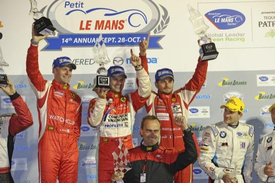 Petit Le Mans: Giancarlo Fisichella, Gianmaria Bruni e Pierre Kaffer vincono in scioltezza