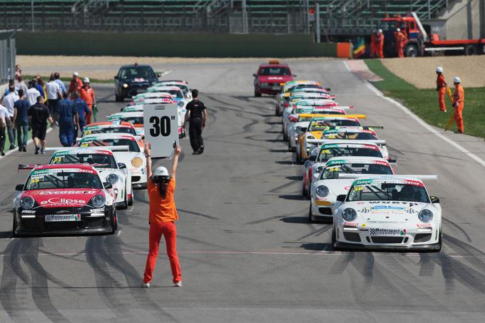 Shake-down a Imola per la Targa Tricolore Porsche