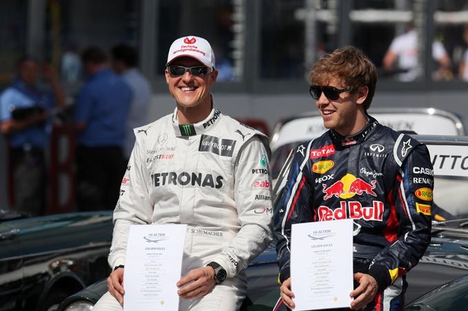 Schumacher e Vettel insieme alla Race of Champions