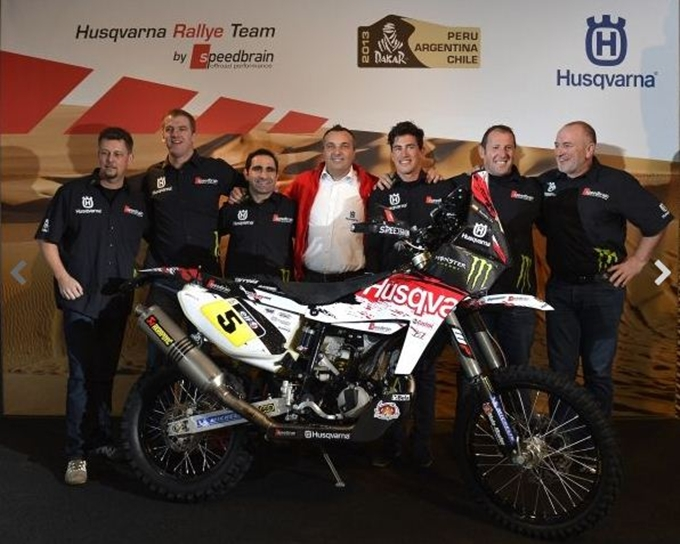 Dakar 2013 – Husqvarna Rallye Team by Speedbrain scende in pista