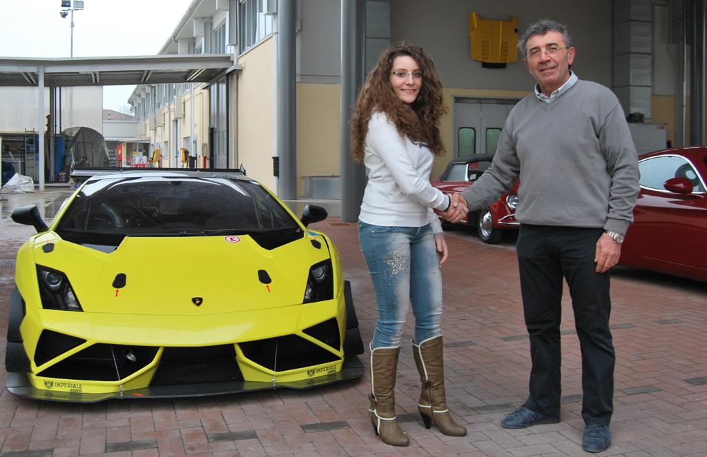 Alessandra Brena con il team Imperiale nel Super Trofeo Lamborghini