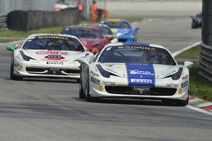 Ferrari Challenge Trofeo Pirelli – Casè e Adamski dettano il passo