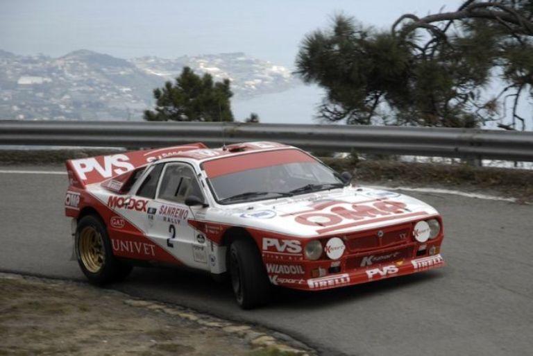 Rally di Sanremo Storico alla Lancia 037 di Pedretti