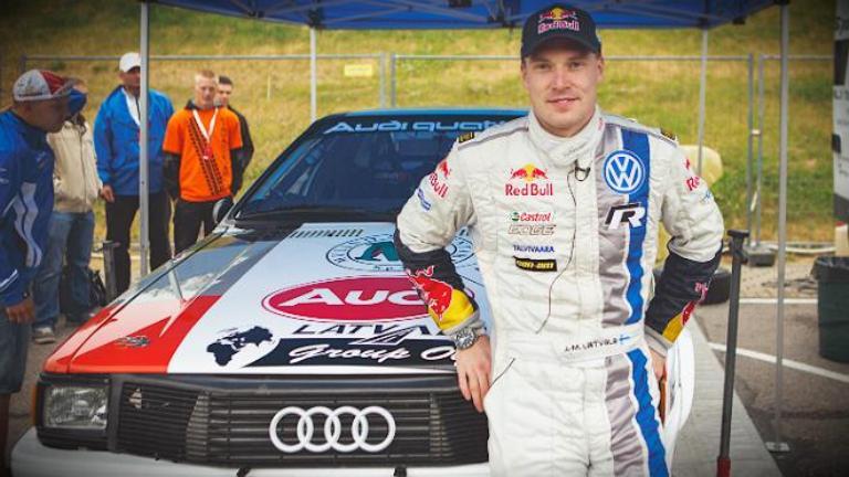 Latvala al Rally d'Estonia Storico con un'Audi Quattro
