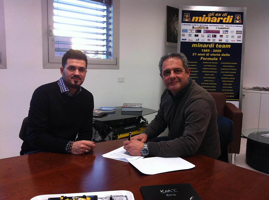 Alberto Tonti con la Minardi Management di Giovanni Minardi