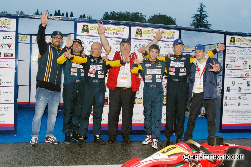 "Podio per il Team Minardi by Pastina&Friends alla ""Kart Memorial Senna 2014″"
